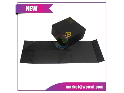 New Style Different Types Baby Small Rigid Luxury Custom Printing Black Paper Gift Box Packaging