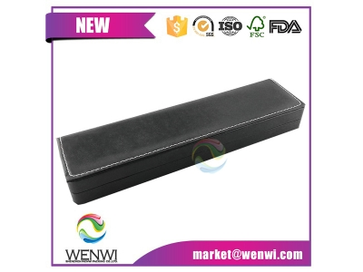Wholesale Display Black Empty Mens Single Wrist Bulk Custom Logo Cardboard Gift Long Pu Leather Luxury Paper Watch Boxes