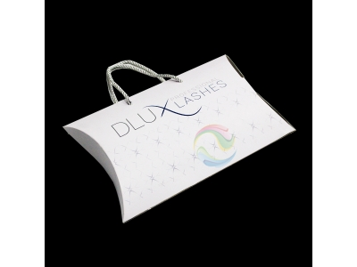 Wholesale Custom Print Logo Large Paper Gift Hair Extensions Pillow Box With Handle Packaging