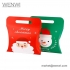 Wholesale Flat Pack Pillow Paper Gift Merry Christmas Packing Box