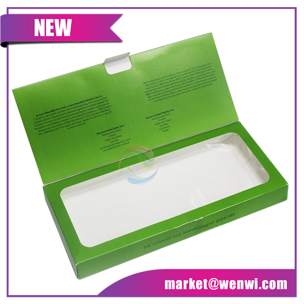 Clear PVC Cosmetic Product Gift Set Packaging Box with Window